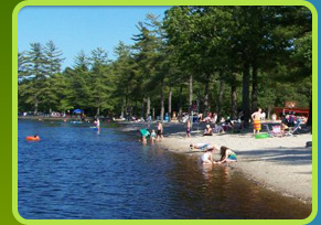 Beach at  Egg Harbor Lake Campground