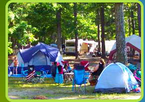 Campsites at  Egg Harbor Lake Campground