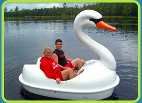 Swan paddle boat at  Egg Harbor Lake Campground