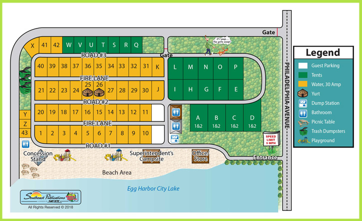 Egg Harbor Lake Campground Site Map