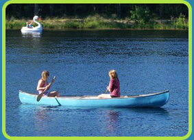 Canoeing at  Egg Harbor Lake Campground