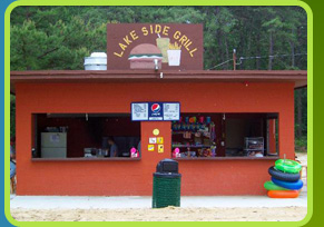 Beach snack bar at  Egg Harbor Lake Campground